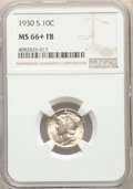 Mercury Dimes: , 1930-S 10C MS66+ Full Bands NGC. NGC Census: (15/2 and 1/0+). PCGS Population: (90/16 and 13/8+). CDN: $1,650 Whsle. Bid fo...
