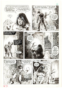 John Buscema and Alfredo Alcala The Savage Sword of Conan #20 Page 41 Original Art (Marvel Comics, 1977)