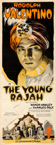 "Movie Posters:Drama, The Young Rajah (Paramount, 1922). Fine/Very Fine on Linen. Insert (14"" X 36"").. ..."