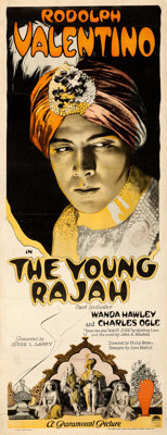 "The Young Rajah (Paramount, 1922). Fine/Very Fine on Linen. Insert (14"" X 36"")"