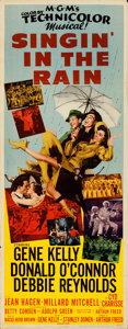 "Movie Posters:Musical, Singin' in the Rain (MGM, 1952). Folded, Fine/Very Fine. Insert (14"" X 36"").. ..."
