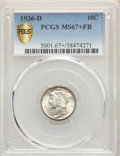 1936-D 10C MS67+ Full Bands PCGS. PCGS Population: (132/11 and 30/0+). NGC Census: (34/1 and 1/0+). CDN: $675 Whsle. Bid...