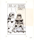Original Comic Art:Panel Pages, Jack Davis Superfan Again Story Page 154 Original Art (New American Library, 1972). ...