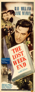 "Movie Posters:Academy Award Winners, The Lost Weekend (Paramount, 1945). Folded, Fine/Very Fine. Insert (14"" X 36"").. ..."