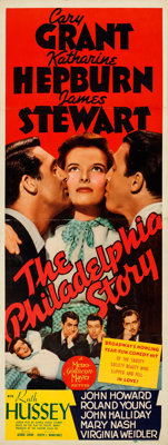 "The Philadelphia Story (MGM, 1940). Fine/Very Fine on Paper. Insert (14"" X 36"")"