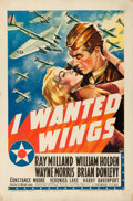 "Movie Posters:War, I Wanted Wings (Paramount, 1941). Fine on Linen. One Sheet (27"" X 41"") Style A.. ..."