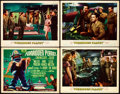 """Movie Posters:Science Fiction, Forbidden Planet (MGM, 1956). Very Fine-. Title Lobby Card & Lobby Cards (3) (11"""" X 14"""").. ... (Total: 4 Items)"""