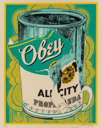 Shepard Fairey (b. 1970) Soup Can II, 2009 Screenprint in colors along lower edge 20 x 16 inches