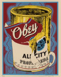 Prints & Multiples, Shepard Fairey (b. 1970). Soup Can III, 2009. Screenprint in colors on speckled cream paper. 20 x 16 inches (50.8 x 40.6...