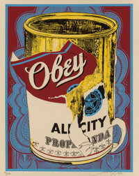 Shepard Fairey (b. 1970) Soup Can III, 2009 Screenprint in colors on speckled cream paper 20 x 16