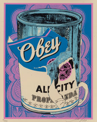 Shepard Fairey (b. 1970) Soup Can IV, 2009 Screenprint in colors on speckled cream paper 20 x 16