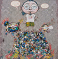 Prints:Contemporary, Takashi Murakami (b. 1962). A Space of Philosophy, 2013. Offset lithograph in colors on smooth wove paper. 19-5/8 x 19-5...