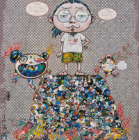 Takashi Murakami (b. 1962) A Space of Philosophy, 2013 Offset lithograph in colors on smooth wove pa