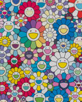 Fine Art - Work on Paper:Print, Takashi Murakami (b. 1962). A Field of Flowers Seen from the Stairs to Heaven, 2018. Offset lithograph in colors on smoo...