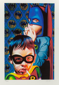 Ron English (b. 1959) Batman and the Boy Blunder II, 2007 Digital print in colors on paper 20 x 2