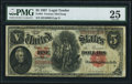 Large Size:Legal Tender Notes, Fr. 84 $5 1907 Legal Tender PMG Very Fine 25.. ...