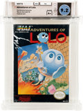 Video Games:Nintendo, Adventures of Lolo [Oval SOQ TM] - Carolina Collection Wata 9.2 A+ Sealed NES HAL 1989 USA....