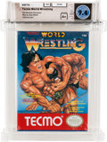 Video Games:Nintendo, Tecmo World Wrestling [Oval SOQ R] - Carolina Collection Wata 9.4 A+ Sealed NES Tecmo 1990 USA....