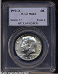 Kennedy Half Dollars: , 1970-D 50C MS64 PCGS. ...