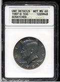 Kennedy Half Dollars: , 1987-D 50C MS60--Scratched--ANACS, UNC Details....