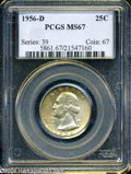 Washington Quarters: , 1956-D 25C MS67 PCGS. ...