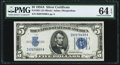 Small Size:Silver Certificates, Fr. 1651 $5 1934A Silver Certificate. PMG Choice Uncirculated 64 EPQ.. ...