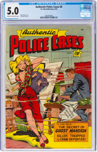 Authentic Police Cases #8 (St. John, 1950) CGC VG/FN 5.0 Cream to off-white pages