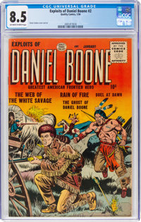 Exploits of Daniel Boone #2 (Quality, 1956) CGC VF+ 8.5 Off-white to white pages