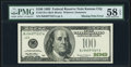 Missing Treasury Seal Printing Error Fr. 2176-J $100 1999 Federal Reserve Note. PMG Choice About Unc 58 EPQ
