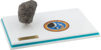 Apollo 14: Moon Rock Replica on Base with Mission Insignia