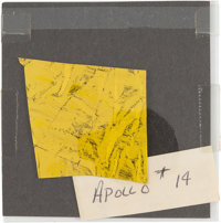 Apollo 14: Flown Kapton Foil Segment with Original Photos from the Lunar Receiving Laboratory
