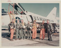 """Explorers:Space Exploration, Mercury Seven: Original NASA """"Red Number"""" Color Photo of the Nation's First Group of Astronauts with Related NASA Fact Sheet...."""