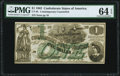 CT45/342 $1 1862 Contemporary Counterfeit PMG Choice Uncirculated 64 EPQ