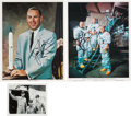 Explorers:Space Exploration, James Lovell: Three Signed Photos....