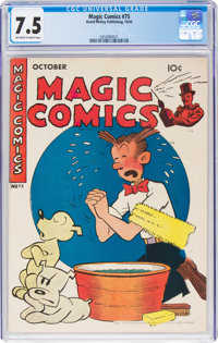 Magic Comics #75 (David McKay Publications, 1945) CGC VF- 7.5 Off-white to white pages