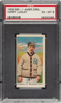 Baseball Cards:Singles (Pre-1930), 1909-11 E90-1 American Caramel Harry Lumley PSA EX-MT 6 - Pop Two, None Higher....