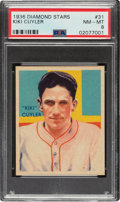 Baseball Cards:Singles (1930-1939), 1934-36 Diamond Stars Kiki Cuyler (1936 Blue) #31 PSA NM-MT 8 - None Higher. ...