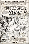 Original Comic Art:Covers, Ed Hannigan and Mike Esposito Marvel Team-Up #42 Cover Spider-Man and Vision Original Art and Color Guide (Marvel,...