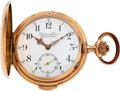 Timepieces:Pocket (pre 1900) , Audemars Freres, Brassus & Geneve, Rose Gold Quarter Hour Repeater, circa 1885. ...