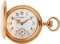Patek Philippe, Lady's Gold Hunter Case, Fancy Dial, circa 1905