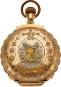 Timepieces:Pocket (pre 1900) , Rockford Watch Co., Massive 14k Multicolor Gold Box Hinge 18 Size, circa 1891. ...