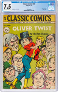 Golden Age (1938-1955):Classics Illustrated, Classic Comics #23 Oliver Twist - First Edition (Gilberton, 1945) CGC VF- 7.5 Cream to off-white pages....