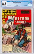 Golden Age (1938-1955):Classics Illustrated, Classics Illustrated #62 Western Stories - First Edition (Gilberton, 1949) CGC VF+ 8.5 Cream to off-white pages....