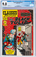 Golden Age (1938-1955):Classics Illustrated, Classics Illustrated #73 The Black Tulip - First Edition (Gilberton, 1950) CGC VF/NM 9.0 Off-white to white pages....