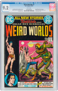 Bronze Age (1970-1979):Science Fiction, Weird Worlds #1 (DC, 1972) CGC NM- 9.2 White pages....