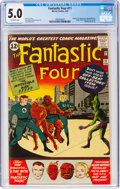 Silver Age (1956-1969):Superhero, Fantastic Four #11 (Marvel, 1963) CGC VG/FN 5.0 Off-white pages....