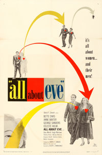 "All About Eve (20th Century Fox, 1950). Very Fine- on Linen. One Sheet (27"" X 41""). Academy Award Winners"