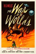 "Movie Posters:Science Fiction, The War of the Worlds (Paramount, 1953). Very Fine on Linen. One Sheet (27.25"" X 41"").. ..."