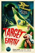 """Movie Posters:Science Fiction, Target Earth (Allied Artists, 1954). Very Fine- on Linen. One Sheet (27.25"""" X 41"""").. ..."""