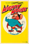 """Movie Posters:Animation, Mighty Mouse (20th Century Fox, 1943). Very Fine- on Linen. Stock One Sheet (27"""" X 41"""").. ..."""